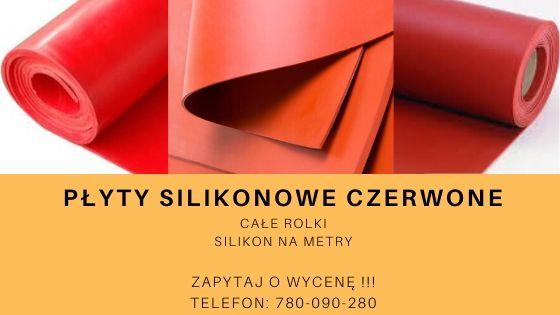 płyty silikonowe czerwone